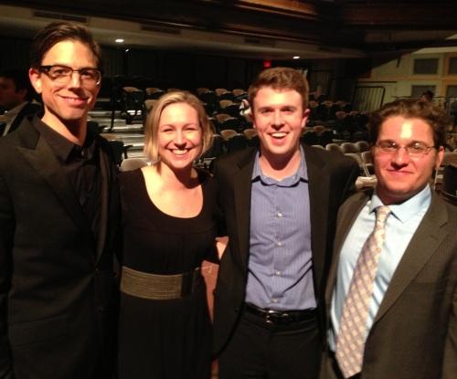 (L to R) Michael Kerschner, Jocelyn Hagen, Colin Britt, Joshua Fishbein