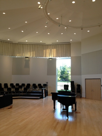 Shindell Choral Hall, our beautiful rehearsal space in the brand new Mortensen Hall