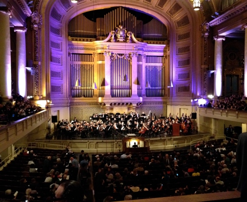 Yale ensembles at Woolsey Hall on October 11, 2013