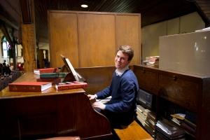 Colin playing organ