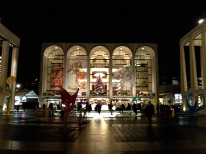 Lincoln Center at Christmas